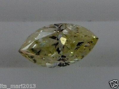 FANCY LIGHT YELLOW 0.37 CARAT SI1 VERY GOOD NATURAL LOOSE MARQUISE CUT DIAMOND