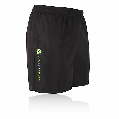 Higher State Mens Black Running 5 Inch Breathable Lightweight Shorts Pants