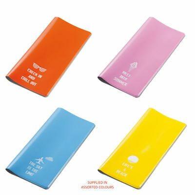 Brand New - Go Travel - Glo Travel Wallet (Assorted Bright Colours) - FREE P&P