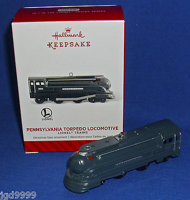 Hallmark Ornament Lionel Trains #19 2014 Pennsylvania Torpedo Locomotive NIB