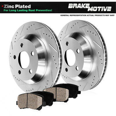 2006 For Jeep Liberty Rear Anti Rust Coated Disc Brake Rotors and Ceramic Brake Pads