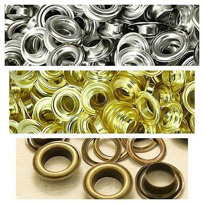 100 x 10mm Brass Eyelets Grommets with Washers for Banners Boat Rain & Rustproof