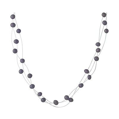 Wholesale / Gifts Lot of Five 3 Strand Illusion Necklaces, 39 Black Pearls Each