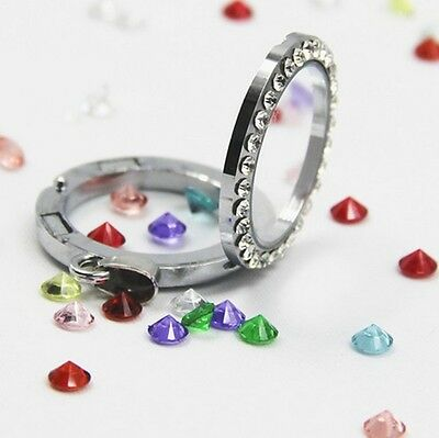 Wholesale 10pcs each month Birthstone Floating Charm For Living Memory Lockets