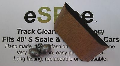 eSPee™ S Scale - TRACK CLEANING CAR PAD KIT - Fits 40' Boxcar & Reefer Models