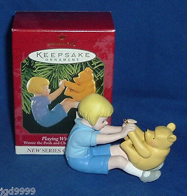 Hallmark Ornament Winnie the Pooh Christopher Robin #1 1999 Playing with Pooh