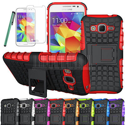 Tough Armor Hybrid Case Hard Stand Cover For Samsung Galaxy Core Prime LTE G360