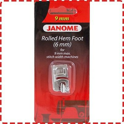 Janome 6mm Rolled Hem Foot (9mm) - Skyline MC8200 MC8900 MC9900 MC12000 MC15000