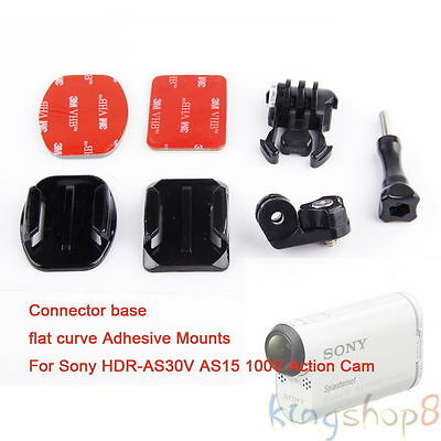 Flat Curve Adhesive Mount Adapter Accesory f Sony Action Cam HDR-AS30V AS15 100V