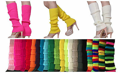 Womens Fashion Crochet Knit Winter Leg Warmers Legging Socks Retro Disco Party