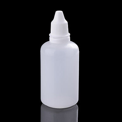 10Pcs Small 50ml Empty Plastic LDPE Squeezable Mini Bottles Eye Liquid Dropper