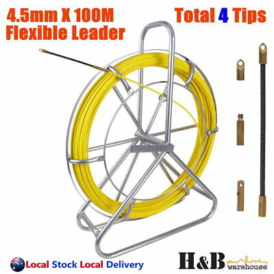 4.5mm 100M Telstra NBN Fiberglass Cable Fish Snake Rodder Puller Flex Lead T0252