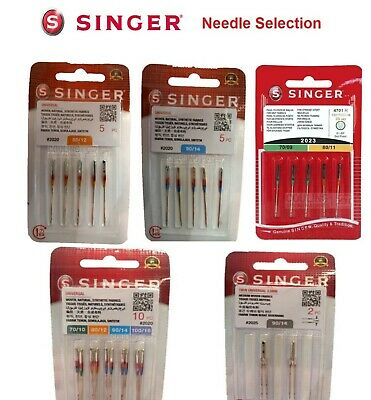 Singer Sewing Machine Needles - Range - Standard, Ballpoint, Overlock, Domestic