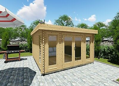 blockhaus gartenhaus flachdach 600x350 cm ger tehaus carport schuppen. Black Bedroom Furniture Sets. Home Design Ideas