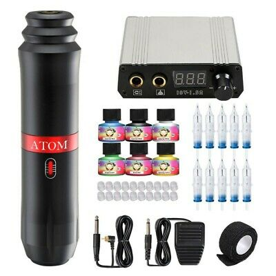 Professional Complete Tattoo Kit 3 Top Machine Gun 40 Ink 50 Needle Power Supply