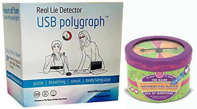 Polygraph Machine Real Home Lie Detector Detecting Testing Kit & Truth Dare Game