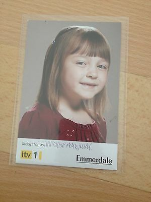 Emmerdale Gabby Thomas Signed Promo Card