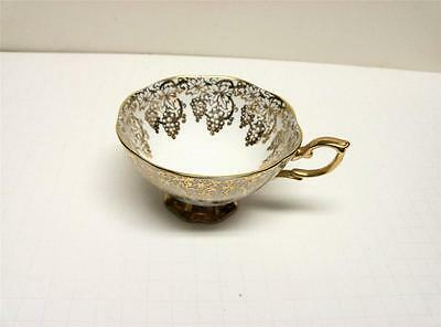 Royal Standard Bone China Cup Only Pattern-Bunches Of Grape  W/lot Of Gold Gilt