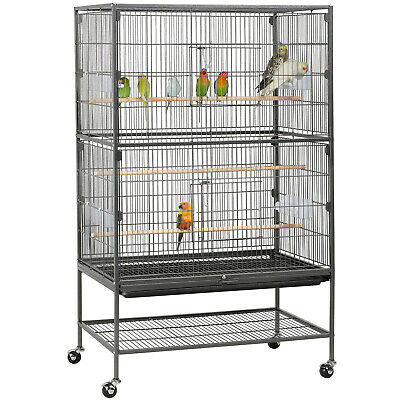 "Large Bird Cage 52"" Flight Cage Parrot Cockatiel Metal Pet Supplies Finch Conure"