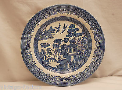 """Old Vintage Blue Willow by Churchill 10-1/4"""" Dinner Plate ~ England"""