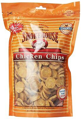 Smokehouse 100% Natural Chicken Chips Dog Treats 25052 Lab tested in the U.S.A