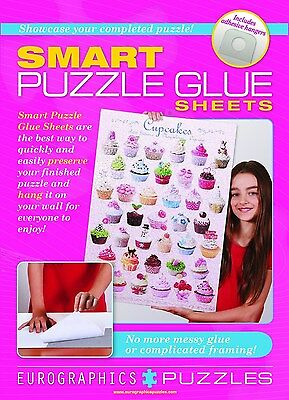 Smart Puzzle Glue Sheets by EuroGraphics Model no  8955-0101  Brand New