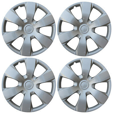 "4 Pc Hub Cap Set Silver Fits 2007 08 09 TOYOTA CAMRY 16"" Wheel Cover Caps Covers"