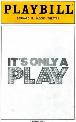It's Only A Play Broadway Playbill