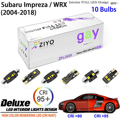 8pcs Super White LED Interior Light Kit Package For Subaru WRX WRX STI 2011-2015