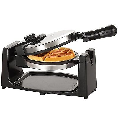 BELLA Classic Rotating Belgian Waffle Maker, Polished (Polished Stainless Steel)