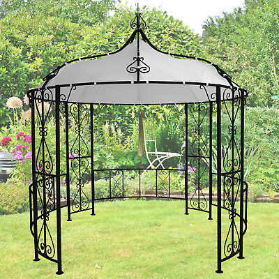 3m rund pavillon garten pergola sonnenschutz terrassen berdachung sonnensegel eur. Black Bedroom Furniture Sets. Home Design Ideas