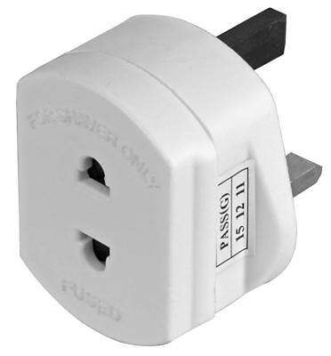 Shaver Plug / Toothbrush Charger Converter From Uk Mains Socket Adapter
