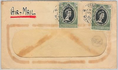 MALTA -  POSTAL HISTORY - AIRMAIL COVER 1953 to ITALY