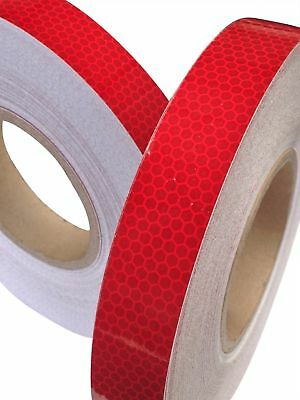 HI VIZ INTENSITY GRADE RED REFLECTIVE TAPE 25MM X 1M Exterior Decal Sticker
