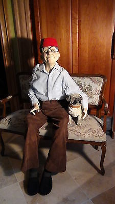 Original Very Rare  A Grandfather  Jointed Doll 1920