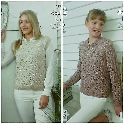 KINGCOLE 5294 DK KNITTING PATTERN 28-46 INCH not the finished garments