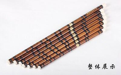 1PCS Handcrafted Bamboo Flute Dizi 7Keys Chinese Knot+Dimo+Cleaning Cloth DZ003*