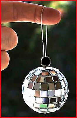 SPARKLNG LIGHT 2 INCH Mini Disco MIRROR BALLS Party on. Hang from car mirror etc
