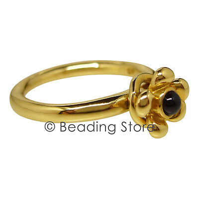 NEW Pandora 14k 14ct Gold Garnet Flower Loose Wreath Ring RRP$799 Sz 55 150113GR