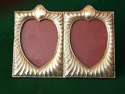 Rare double heart shape photo Frame by William Comyns London 1894