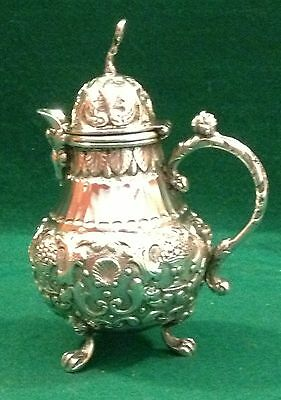 Dutch antique silver lidded jug 1854
