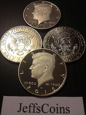 2016 P D S S Kennedy Half Dollar Silver & Clad Proof Business Strikes PDSS 4 Set