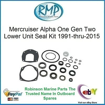 A New Gear Box Seal Kit Mercruiser Sterndrives Alpha One Gen II # 26-816575A3