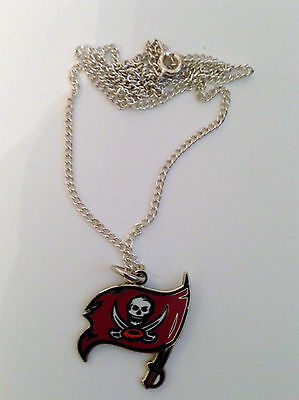 Tampa Bay Buccaneers Logo Charm Necklace - silver tone petite chain