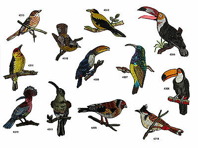 """2-1//8/""""H Embroidery Iron On US Bird House and Fence Applique Patch"""
