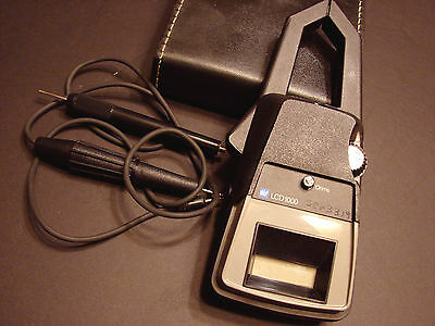 TIF LCD 1000 AC Digital Clamp on Volt OHM Ammeter with case & manual