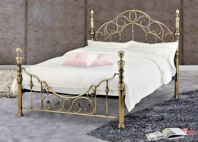New Luxury King Size Brass Bed Frame Bedstead-***free Delivery***