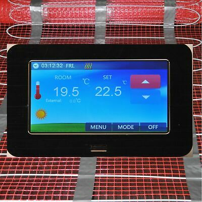 Digital Room Thermostat LCD Color Touchscreen 4,3 Inch Underfloor Heating CTS