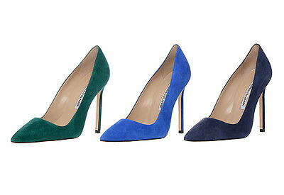 6f0e528cd20 New Manolo Blahnik BB 115 Green Suede Shoes Heels Pumps 36.5 38.5 41.5