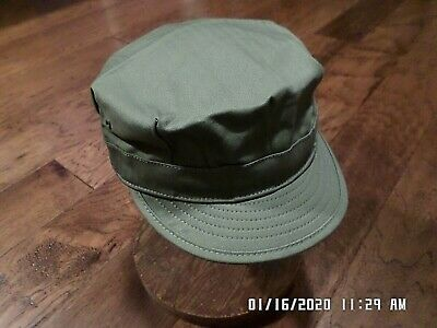 Wwii U.s Military Hbt Hat Reproduction Army Fatigue Cap Size Medium